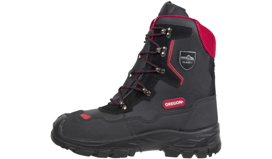 Yukon Leather Chainsaw Safety Boots Class 1 PPE
